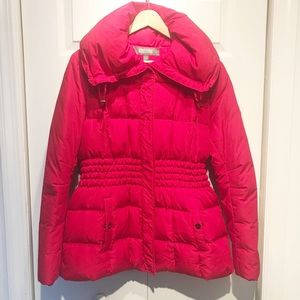 Kenneth Cole Reaction Red Puffer Coat
